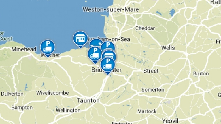 Picture of a map showing Hinkley Point C location