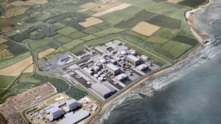 Picture of proposed layout of Hinkley Point C