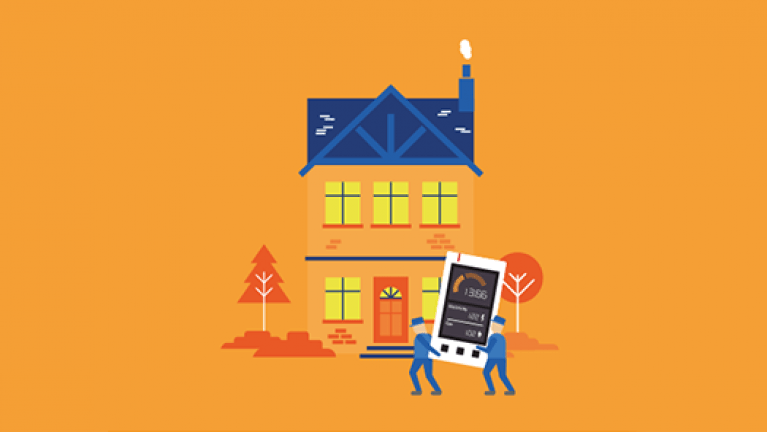 Installing your smart meter - Home installation graphic