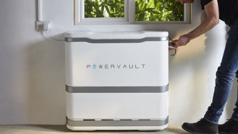 Powervault solar battery being installed by Powervault installer