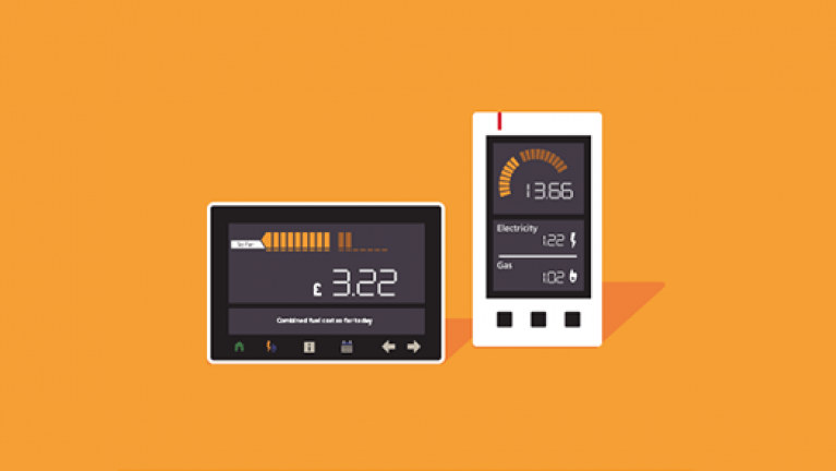 What are smart meters? - Smart meter and app graphic
