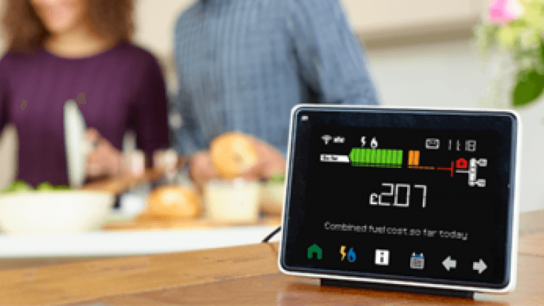 Getting the most from your smart meter - Smart meter on kitchen counter