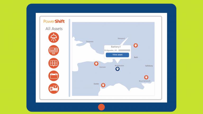 EDF Energy's PowerShift asset map.
