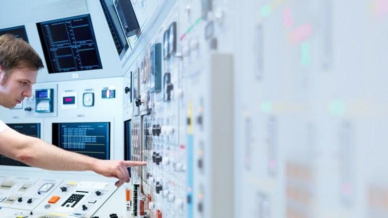 Inside a control room