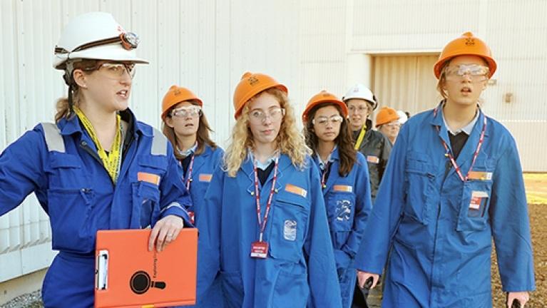 Group visting EDF Energy