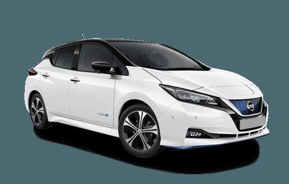 Nissan Leaf in White 570 x 363