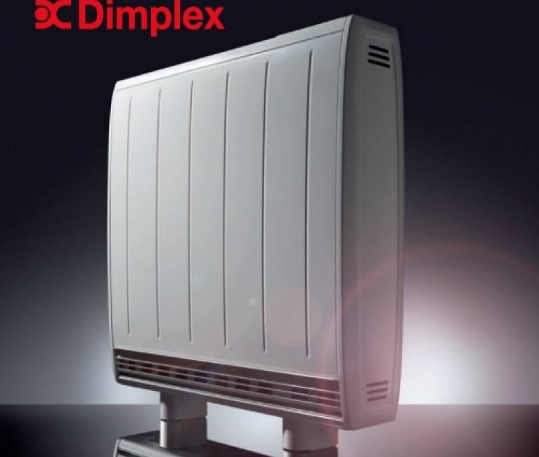 Dimplex Quantum storage heater with Dimplex logo