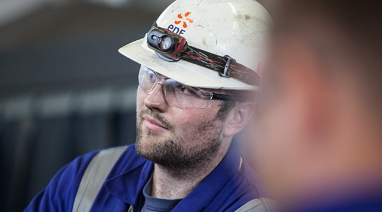 EDF Energy male engineer listening to instructions
