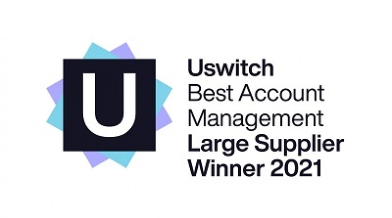 Uswitch award for best account management - Large supplier