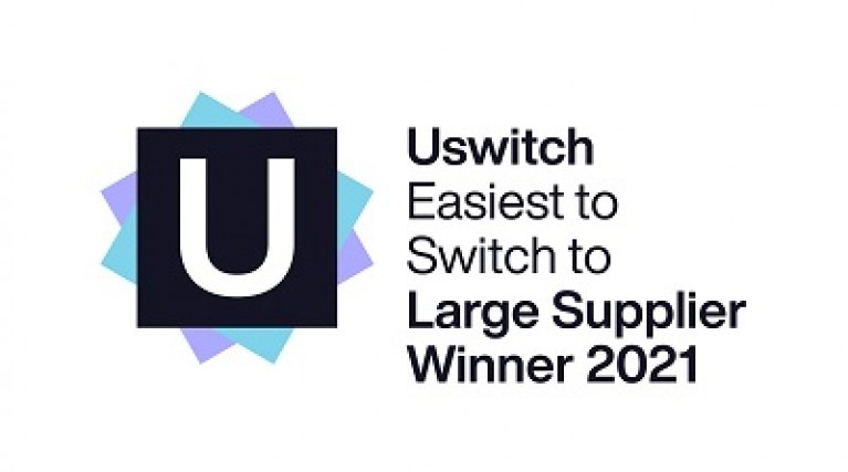 Uswitch award for easiest to switch to - Large supplier