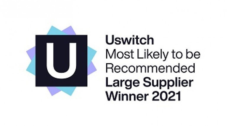 Uswitch award for most likely to be recommended