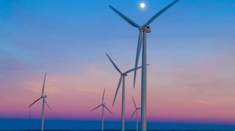 Wind Turbines producing renewable energy - EDF