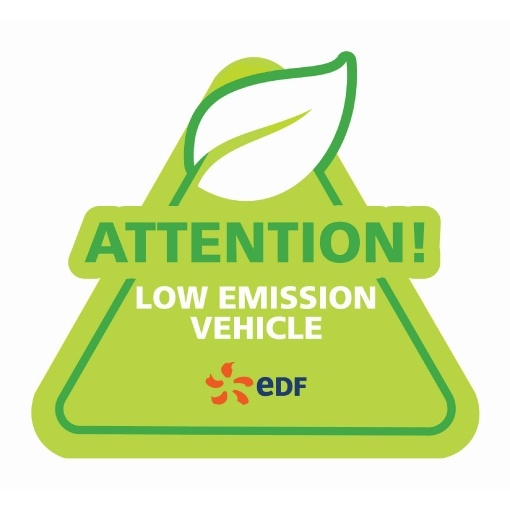 Myth busting bumper sticker - Attention low emissions vehicle