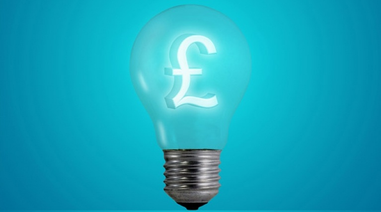 Lightbulb with pound sign in it