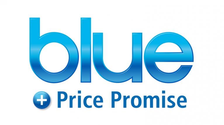 EDF Energy's Blue plus Price Promise product logo