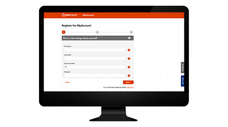 Checklist 2 - Register you EDF Energy account