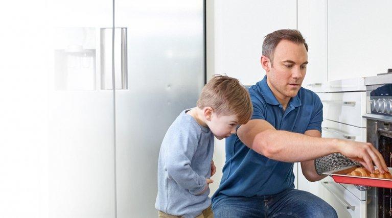 Dad in Kitchen
