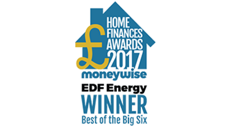 Looking for an award-winning energy supplier? - EDF Energy Winner of Best of the Big Six - Home Finances Awards 2017 Moneywise