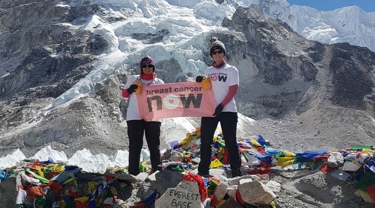 Lana and Hazel from EDF Energy at Everest Base Camp