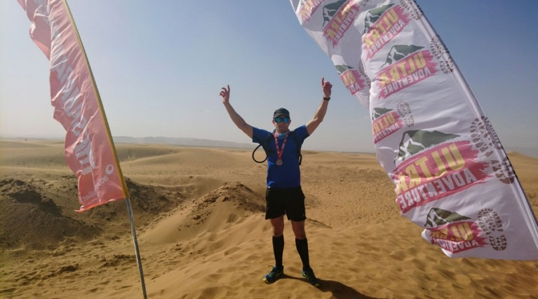 Matt Harrison from EDF in the Sahara Desert