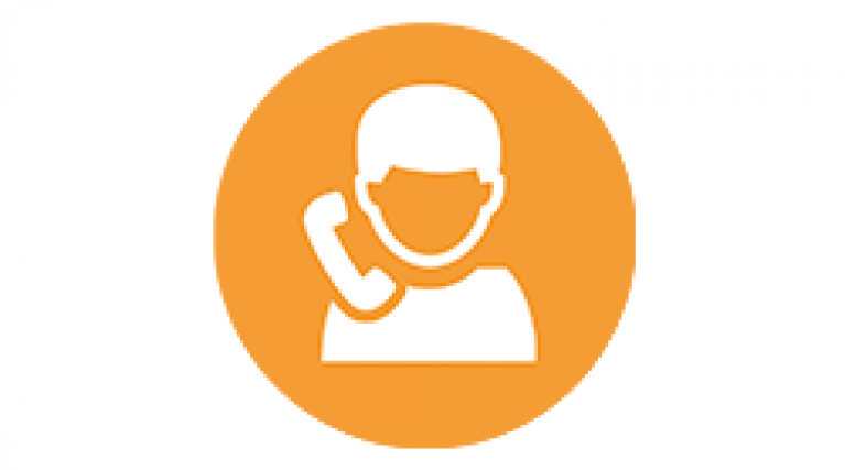 Person on phone icon