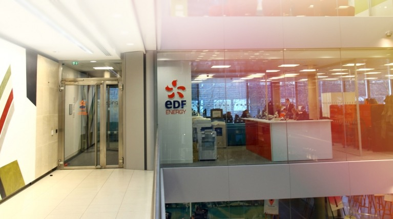 Inside an EDF Energy office