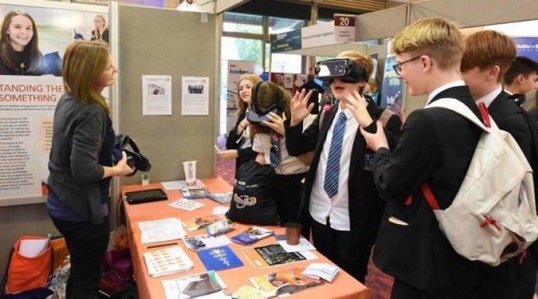 Students visit the Sizewell C stand at the Suffolk Skills Show