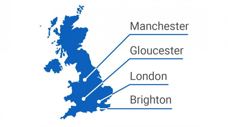 R&D UK Centre locations