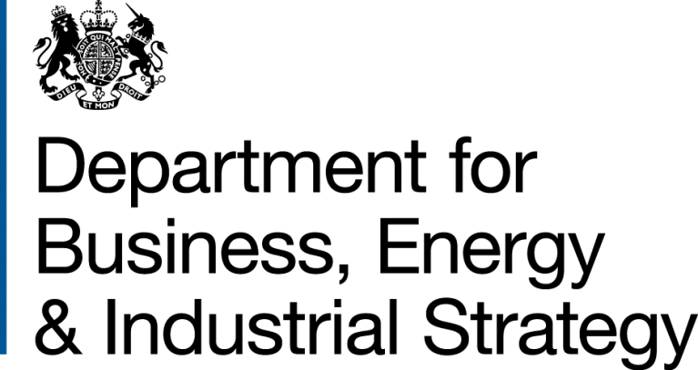 UK government department for Business, Energy & Industrial Strategy (BEIS) logo