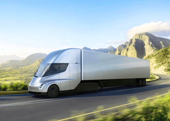 Concept image of the Tesla Semi truck