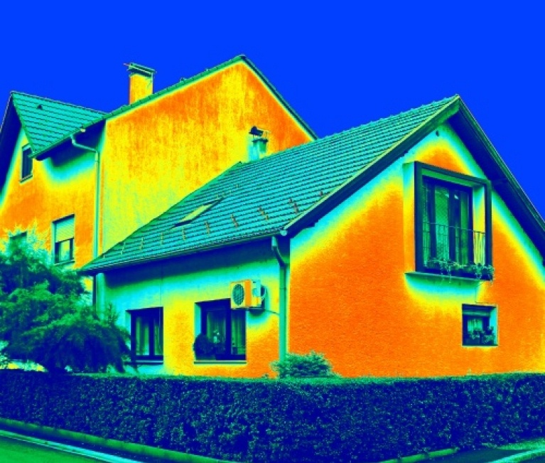 thermal image of home heat