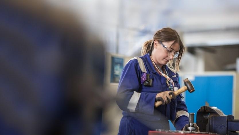 EDF Energy female graduate at work