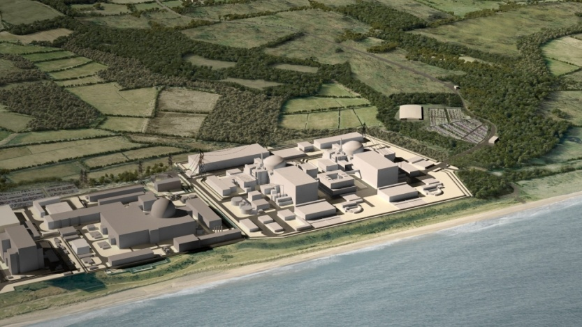 Computer-generated image of the proposed Sizewell C nuclear power station