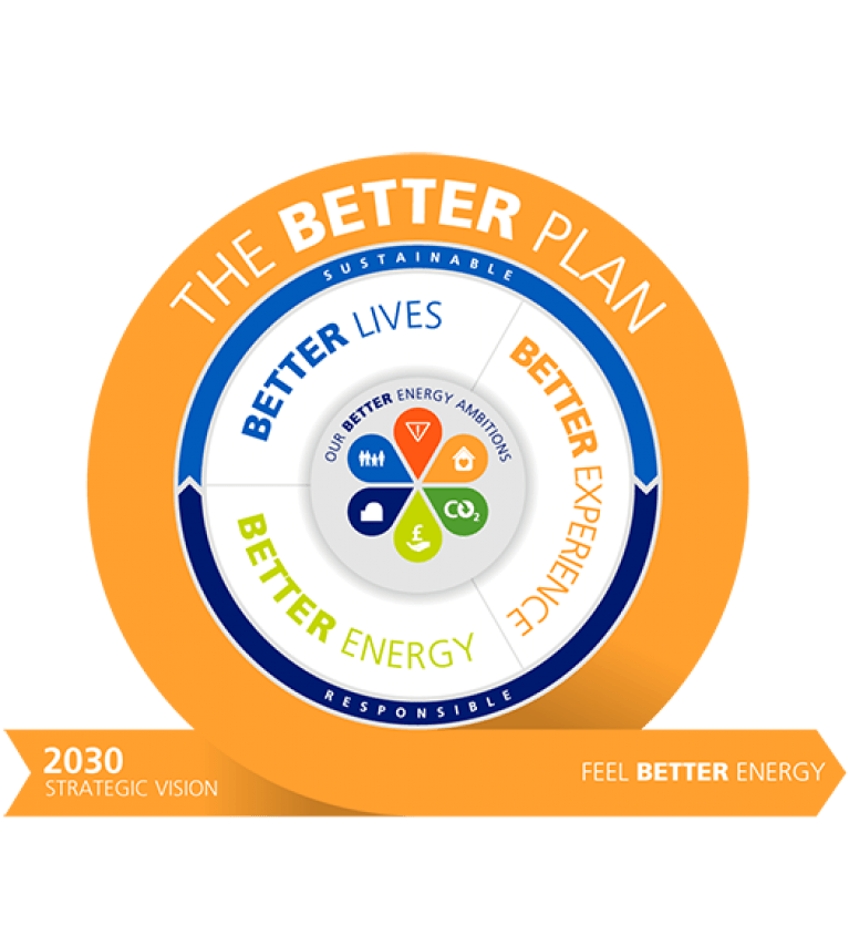 The Better Plan circle graphic - Sustainable Business strategy