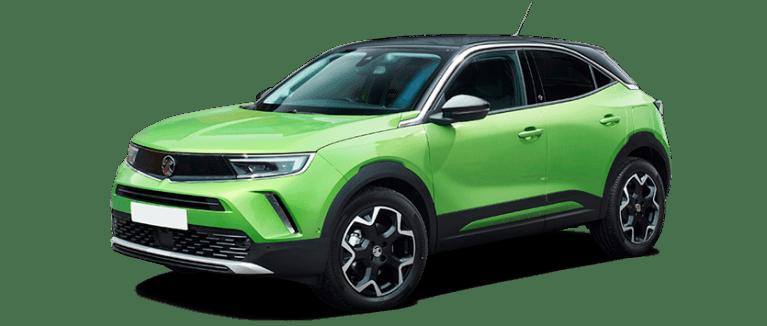 Vauxhall Mokka-e in green front shot
