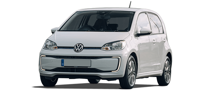 VW e-Up in white