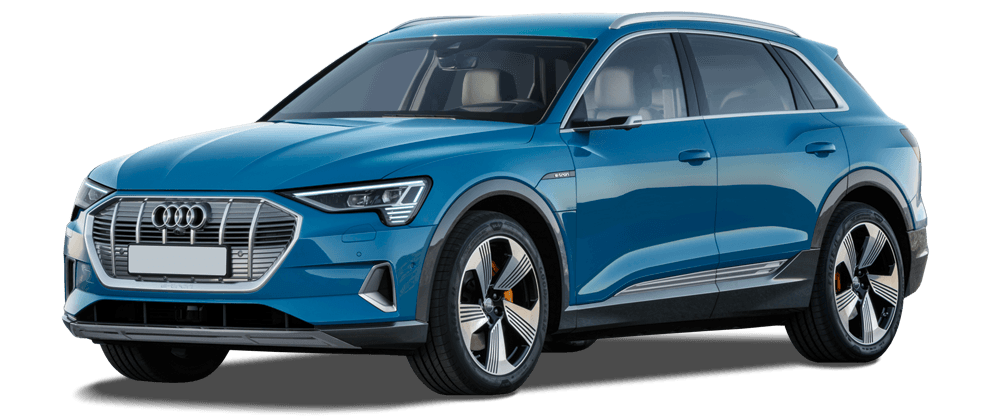 Audi e-tron in blue 982x418