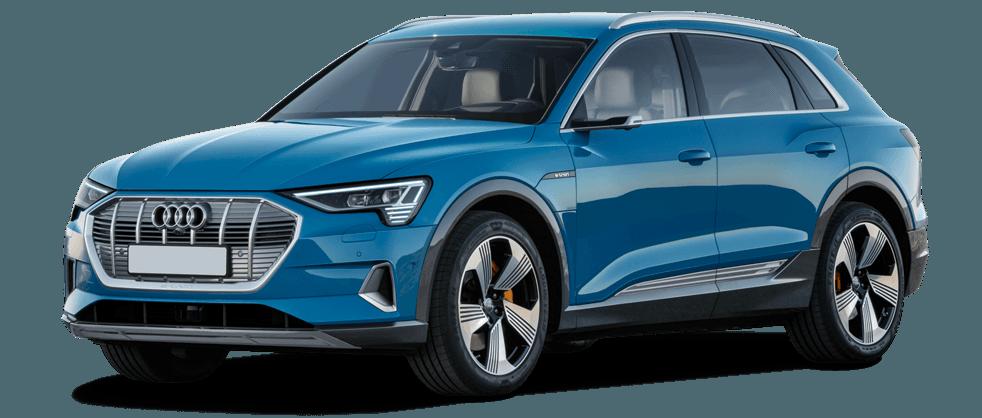 Audi e-tron in blue 982x418