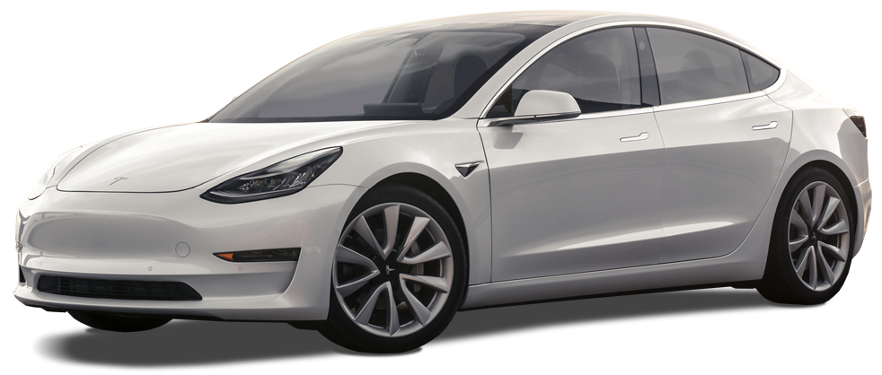 Tesla Model 3 in White 982 x 418