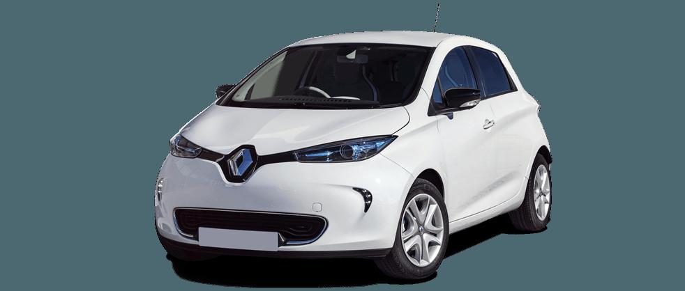 Renault ZOE in white 982x418