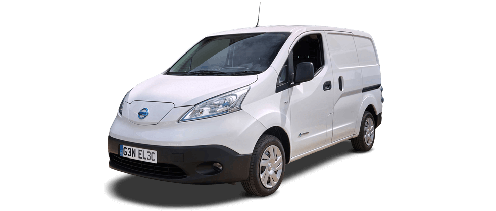 nissan env 200 van 3/4 angle in white
