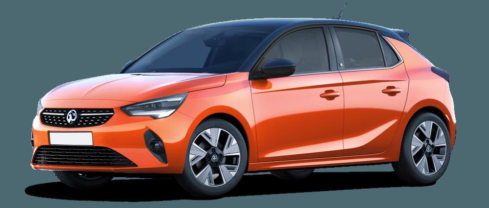 Vauxhall Corsa-e Orange 982x418