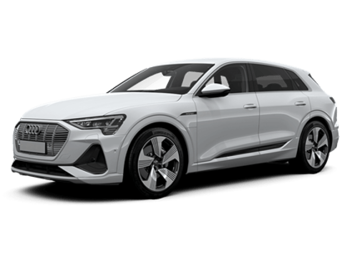 audi e-tron s-line in white
