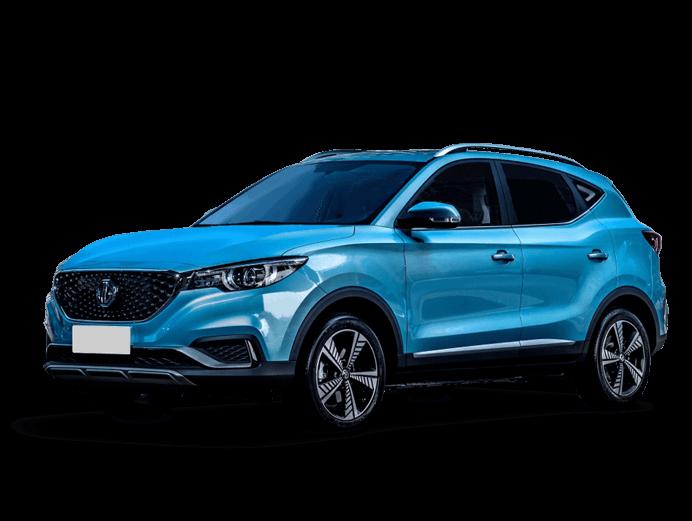 MG ZS EV in blue