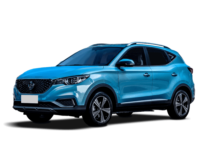 MG ZS EV in blue