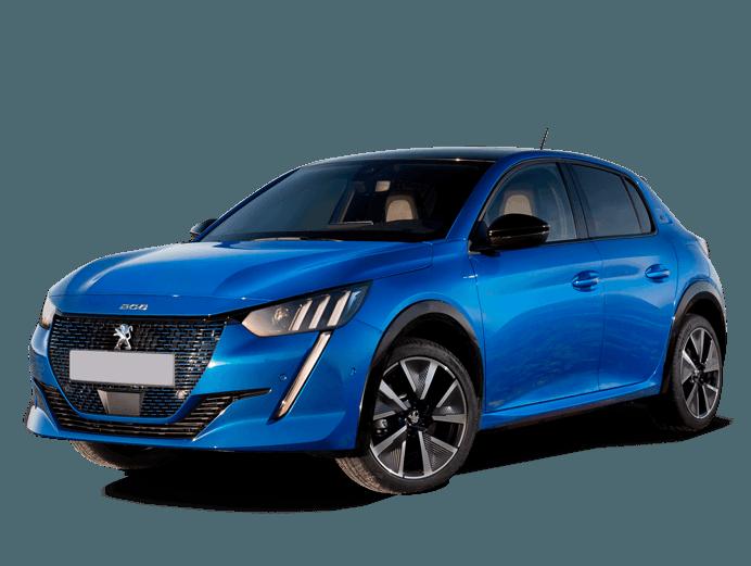 Peugeot e-208 GT in Blue