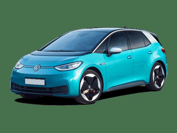 VW ID3 in blue