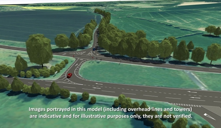 Watch video: Sizewell C | Stage 4 CGI | Highway improvements A140/B1078