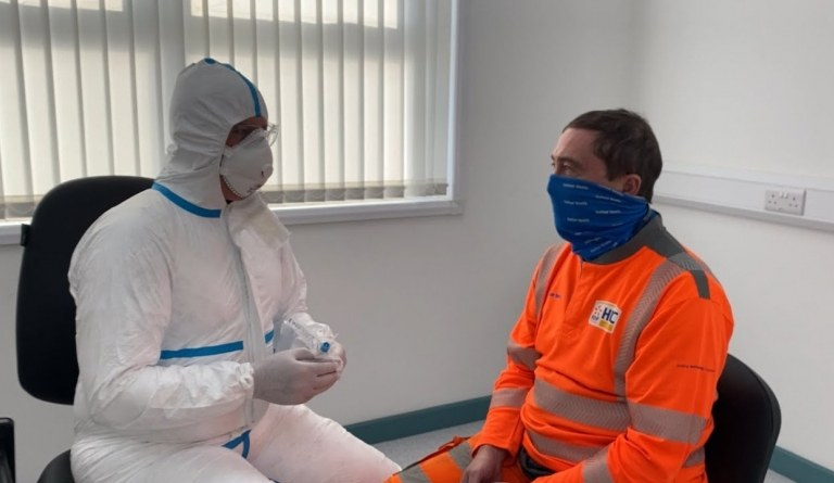 Watch video: Coronavirus safety measures at Hinkley Point C | October 2020