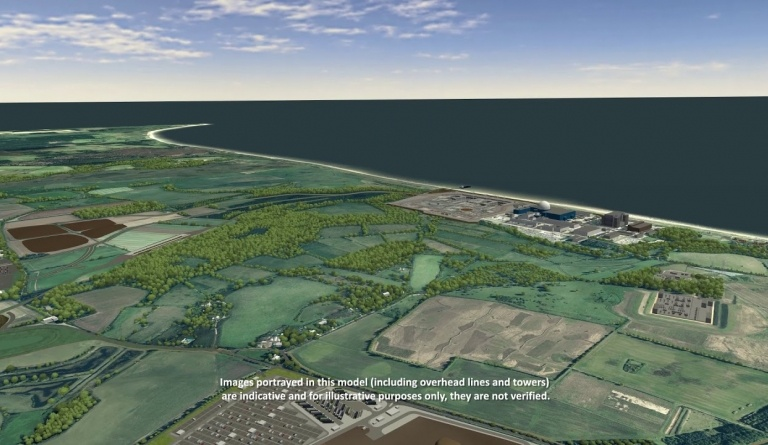 Watch video: Sizewell C CGI - Main Development Site